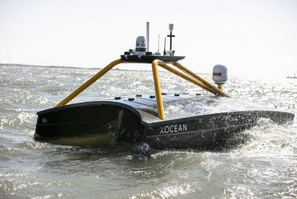 XOCEAN USV at sea