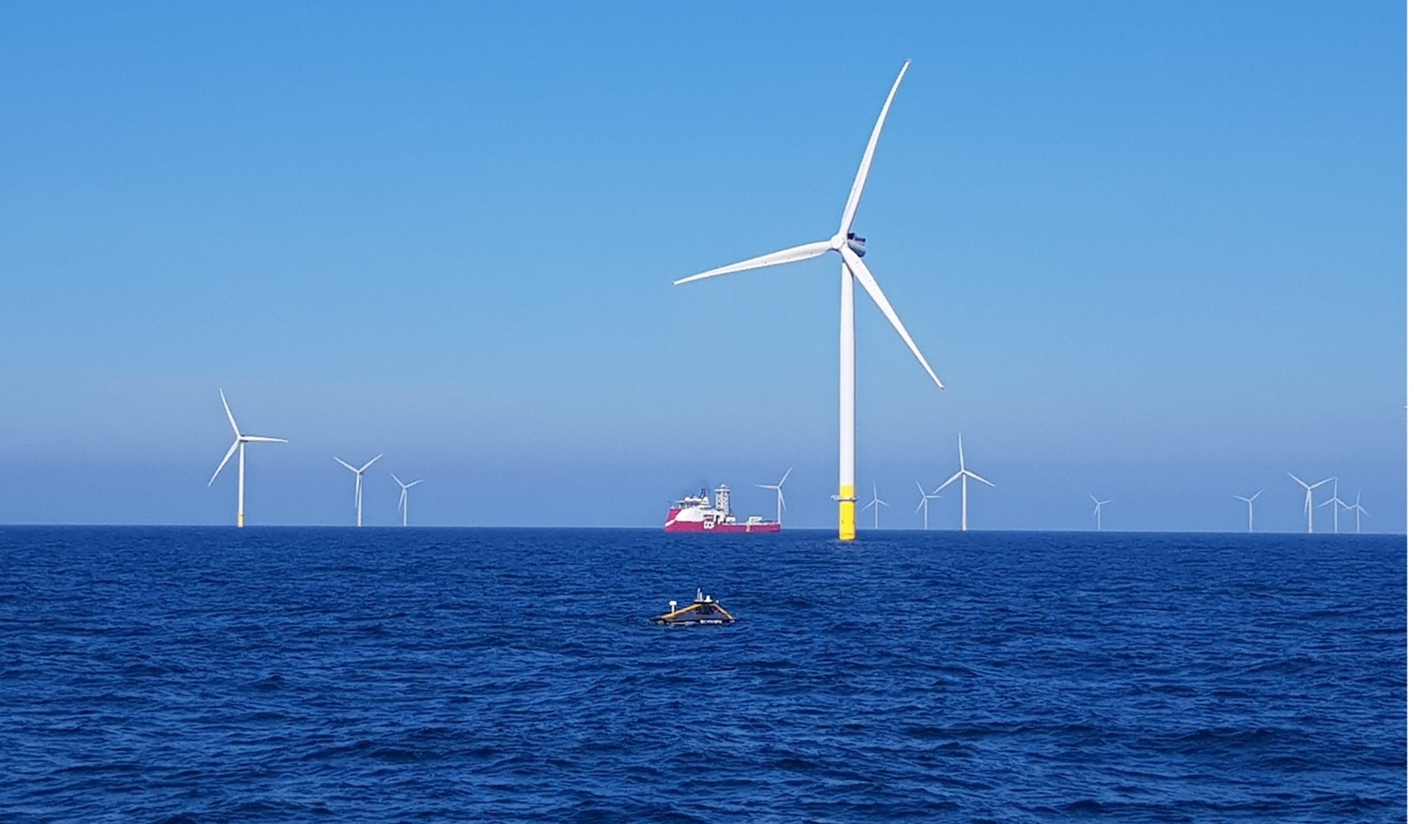 Pictured XOCEAN USV performs site investigation of Ørsted's Hornsea Project One